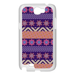 Colorful Winter Pattern Samsung Galaxy Note 2 Case (White)