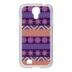 Colorful Winter Pattern Samsung GALAXY S4 I9500/ I9505 Case (White) Front