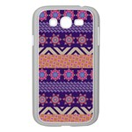 Colorful Winter Pattern Samsung Galaxy Grand DUOS I9082 Case (White) Front