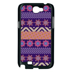 Colorful Winter Pattern Samsung Galaxy Note 2 Case (Black)