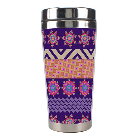 Colorful Winter Pattern Stainless Steel Travel Tumblers