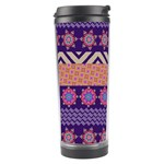 Colorful Winter Pattern Travel Tumbler Left