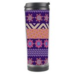 Colorful Winter Pattern Travel Tumbler Center