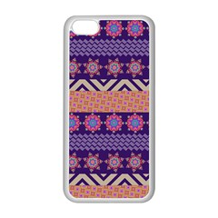 Colorful Winter Pattern Apple iPhone 5C Seamless Case (White)