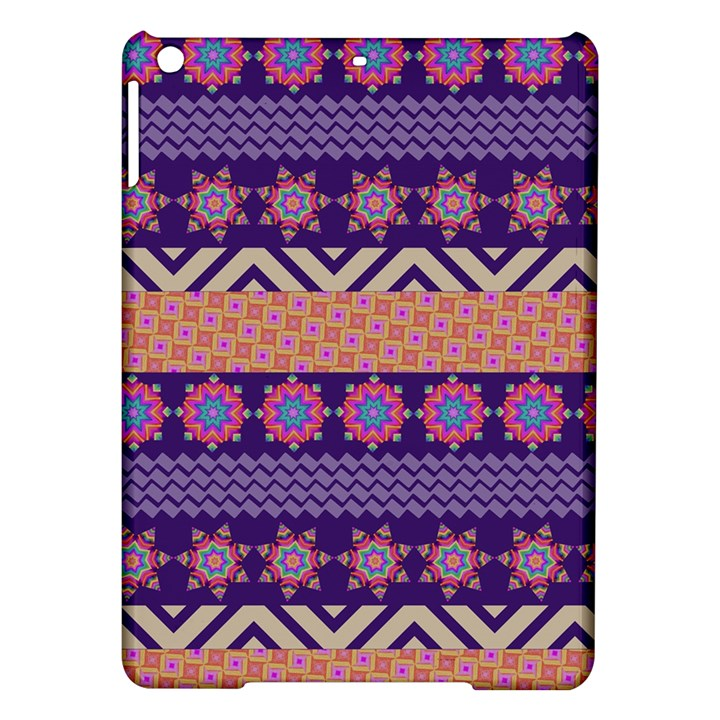 Colorful Winter Pattern iPad Air Hardshell Cases