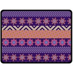 Colorful Winter Pattern Double Sided Fleece Blanket (Large)  80 x60 Blanket Front