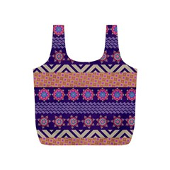 Colorful Winter Pattern Full Print Recycle Bags (s)