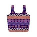 Colorful Winter Pattern Full Print Recycle Bags (S)  Front