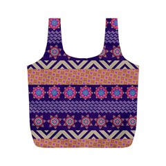 Colorful Winter Pattern Full Print Recycle Bags (M)