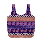 Colorful Winter Pattern Full Print Recycle Bags (M)  Front
