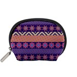 Colorful Winter Pattern Accessory Pouches (Small)  Front
