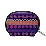 Colorful Winter Pattern Accessory Pouches (Small)  Back