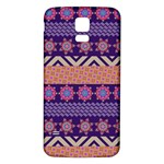 Colorful Winter Pattern Samsung Galaxy S5 Back Case (White) Front
