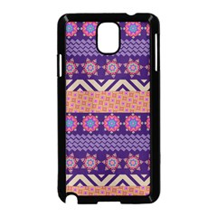 Colorful Winter Pattern Samsung Galaxy Note 3 Neo Hardshell Case (Black)