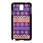 Colorful Winter Pattern Samsung Galaxy Note 3 Neo Hardshell Case (Black) Front