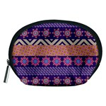 Colorful Winter Pattern Accessory Pouches (Medium)  Front