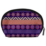 Colorful Winter Pattern Accessory Pouches (Large)  Back