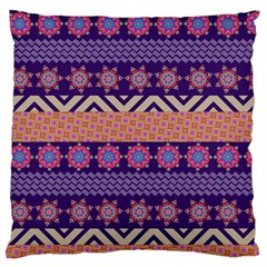 Colorful Winter Pattern Large Flano Cushion Case (One Side)