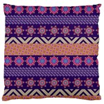 Colorful Winter Pattern Large Flano Cushion Case (Two Sides) Back