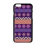 Colorful Winter Pattern Apple iPhone 6/6S Black Enamel Case Front