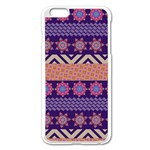 Colorful Winter Pattern Apple iPhone 6 Plus/6S Plus Enamel White Case Front
