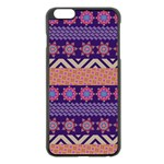 Colorful Winter Pattern Apple iPhone 6 Plus/6S Plus Black Enamel Case Front
