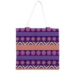 Colorful Winter Pattern Grocery Light Tote Bag
