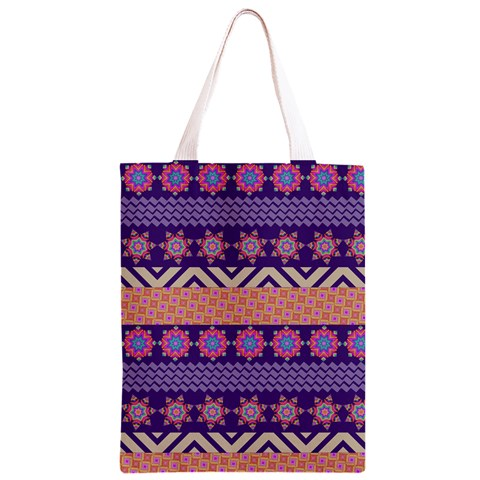 Colorful Winter Pattern Classic Light Tote Bag