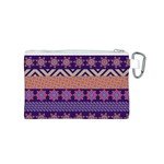 Colorful Winter Pattern Canvas Cosmetic Bag (S) Back