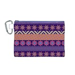 Colorful Winter Pattern Canvas Cosmetic Bag (M) Front