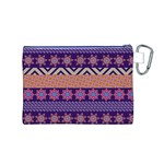 Colorful Winter Pattern Canvas Cosmetic Bag (M) Back