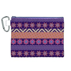 Colorful Winter Pattern Canvas Cosmetic Bag (XL)