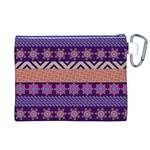 Colorful Winter Pattern Canvas Cosmetic Bag (XL) Back