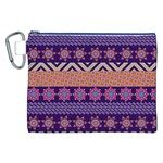 Colorful Winter Pattern Canvas Cosmetic Bag (XXL) Front