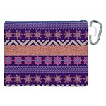 Colorful Winter Pattern Canvas Cosmetic Bag (XXL) Back
