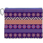Colorful Winter Pattern Canvas Cosmetic Bag (XXXL) Front