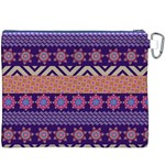 Colorful Winter Pattern Canvas Cosmetic Bag (XXXL) Back