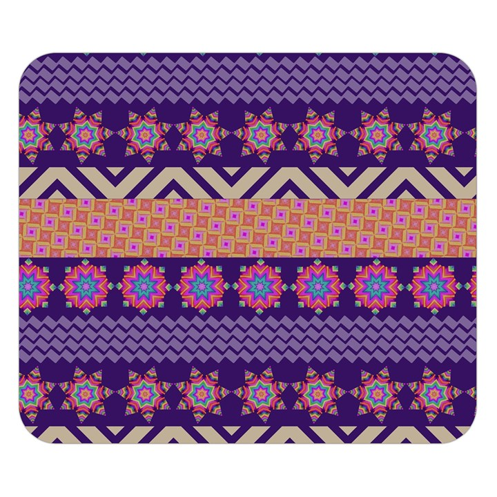 Colorful Winter Pattern Double Sided Flano Blanket (Small)