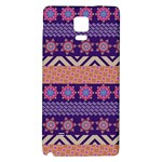 Colorful Winter Pattern Galaxy Note 4 Back Case Front