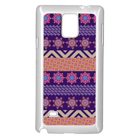 Colorful Winter Pattern Samsung Galaxy Note 4 Case (White)