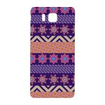 Colorful Winter Pattern Samsung Galaxy Alpha Hardshell Back Case Front