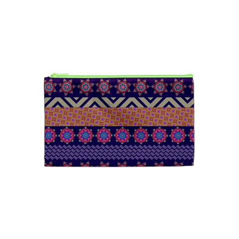 Colorful Winter Pattern Cosmetic Bag (XS)