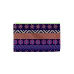 Colorful Winter Pattern Cosmetic Bag (XS) Front