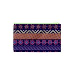 Colorful Winter Pattern Cosmetic Bag (XS) Back