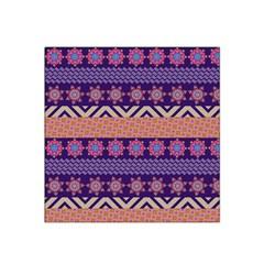 Colorful Winter Pattern Satin Bandana Scarf