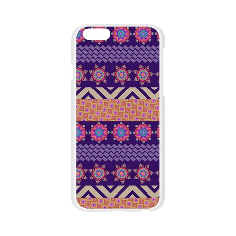 Colorful Winter Pattern Apple Seamless iPhone 6/6S Case (Transparent)