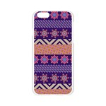 Colorful Winter Pattern Apple Seamless iPhone 6/6S Case (Transparent) Front