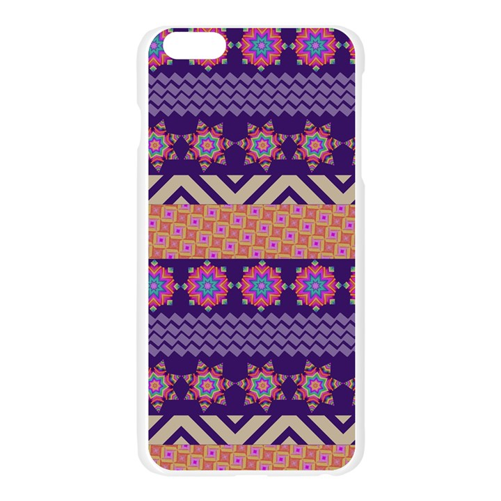 Colorful Winter Pattern Apple Seamless iPhone 6 Plus/6S Plus Case (Transparent)