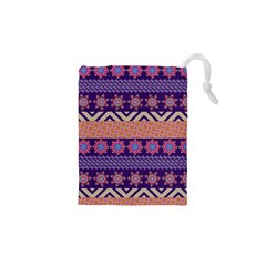 Colorful Winter Pattern Drawstring Pouches (XS)