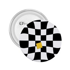 Dropout Yellow Black And White Distorted Check 2 25  Buttons